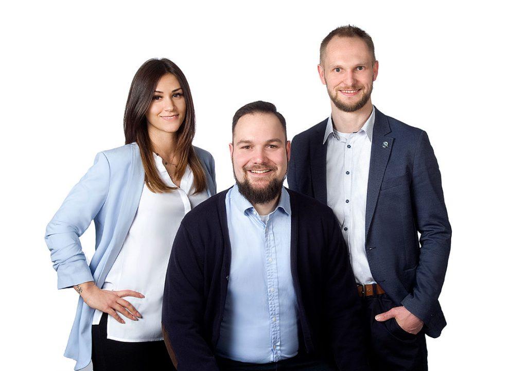 Foto Frau Mangione, Herr Lausberg und Herr Martin